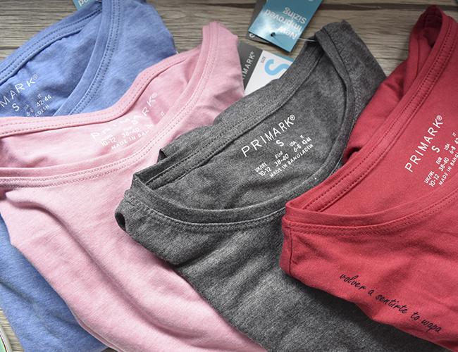 Camisetas lisas de manga larga de Primark