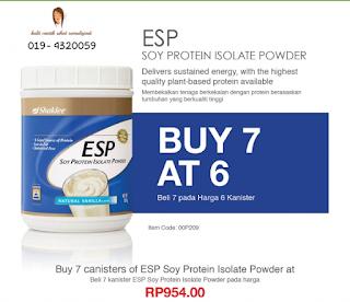 ESP shaklee buy 6 free 1