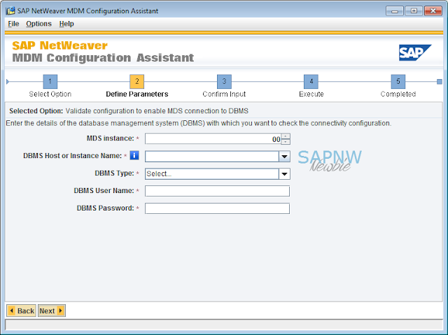 Configuration Validation to Enable MDS Connection to DBMS