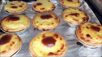 portuguese egg tarts forming burn marks in oven