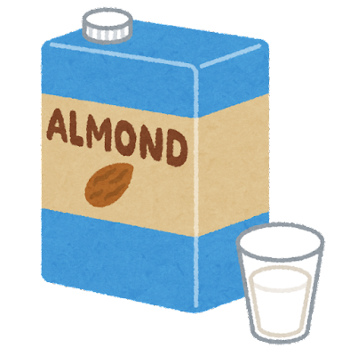 アーモンドミルクのイラスト