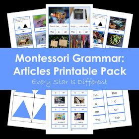 Montessori Grammar: Article Printable Pack