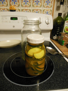 Zucchini and Turmeric Sweet Pickle Slices, quick and easy, no canning.