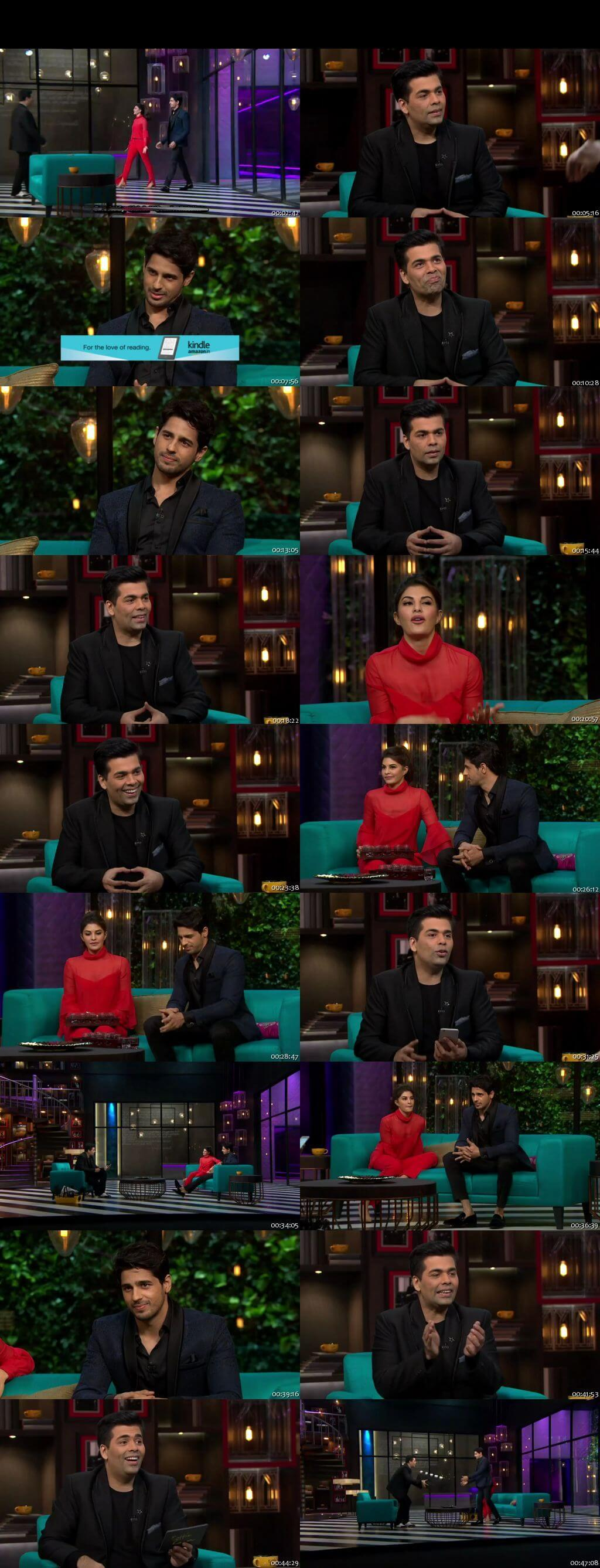 Screen Shot Of Koffee With Karan 8th January 2017 Season 05 Episode 10 300MB Watch Online
