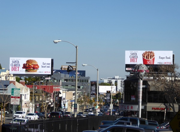 Santa Clarita Diet TV series billboards Sunset Strip
