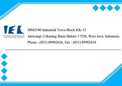Lowongan kerja Operator produksi PT.Toyo Denso Indonesia (ITEC)
