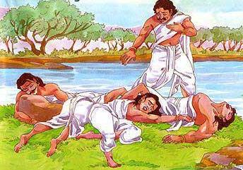 Yudhistira Berhasil Menyelematkan 4 Saudaranya di Sungai Ajaib