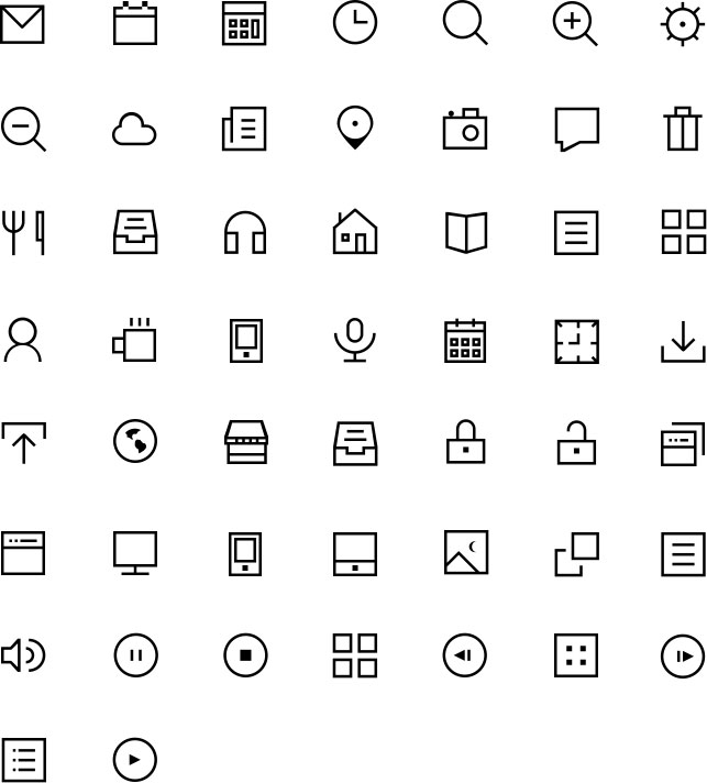 48 Free PSD Outline Icons