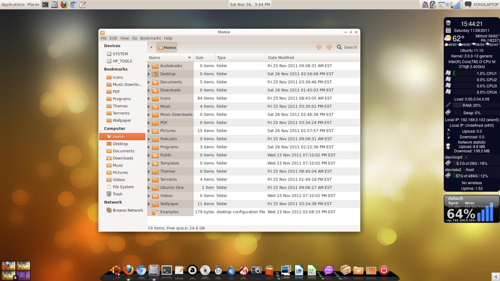 ubuntu 11.10 auto change