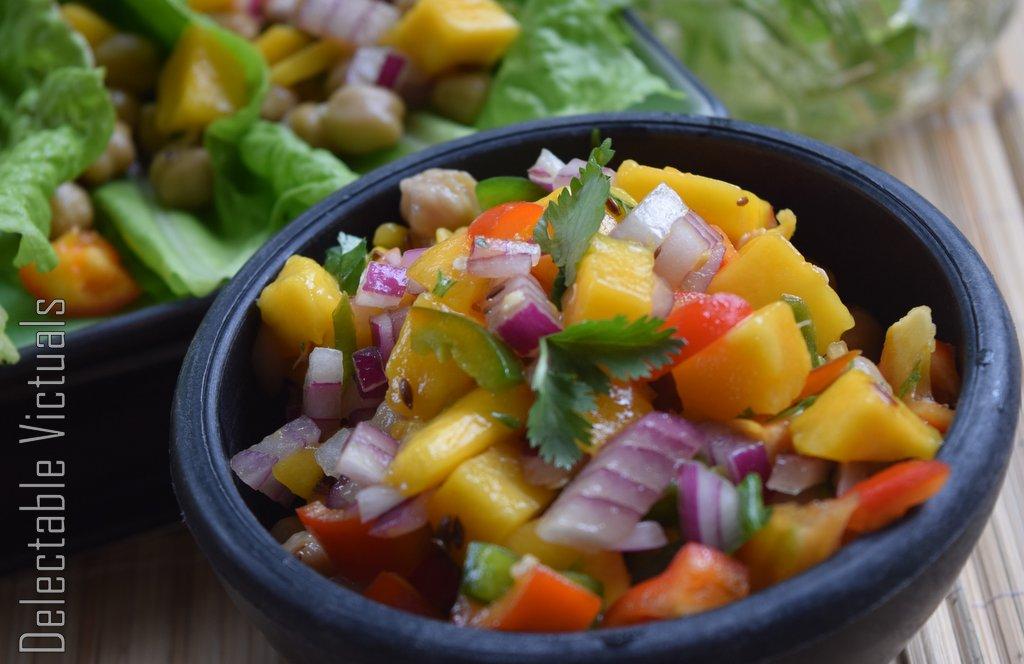 Mango Salsa Lettuce Roll-ups