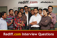 Rediff Interview Questions