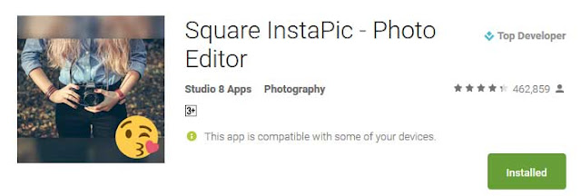 Best No Crop Apps for Instagram and Whatsapp 2019: Square InstaPic – Photo Editor: eAskme