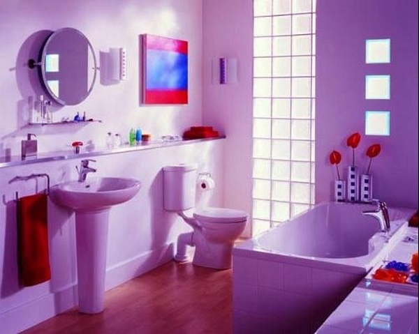 Bathroom tiles januari 2016 for Bathroom ideas violet