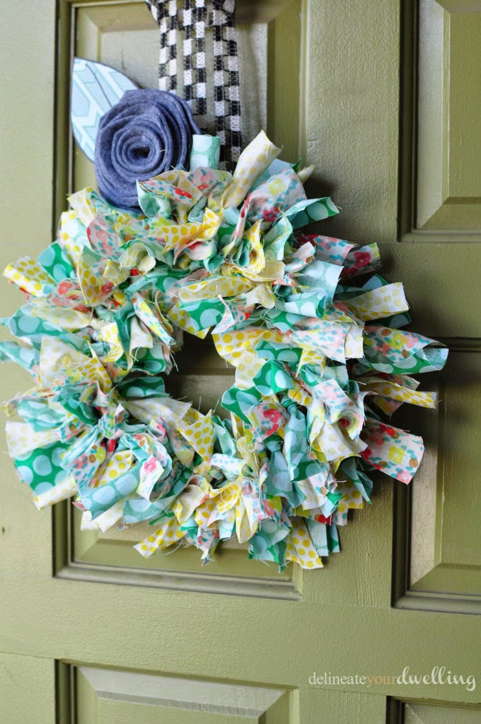 Summer Fabric Wreath