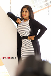 Telugu Actress Karunya Chowdary Stills in Black Dress at Soda Goli Soda Movie Opening  0259.JPG
