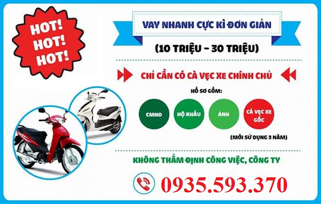 Vay tiền Đà Nẵng với cà vẹt xe máy