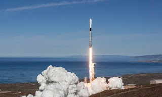 SpaceX successfully launches 64 small satellites