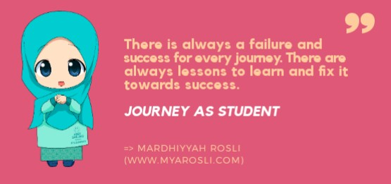 Journey as a student
