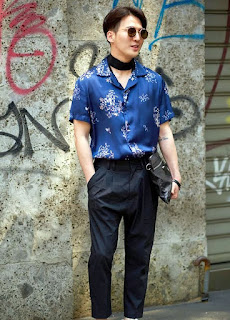 model Kemeja lengan Pendek Batik pria kekinian