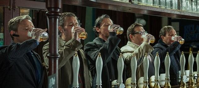 the world's end bienvenidos al fin del mundo película Martin Freeman, Paddy Considine, Simon Pegg, Nick Frost Eddie Marsan