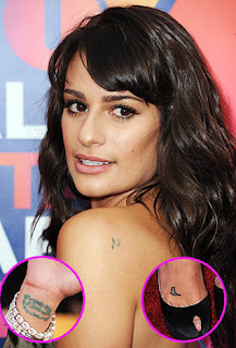 lea michele tattoos