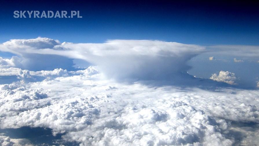 Burze nad Polską - Mapa burzowa
