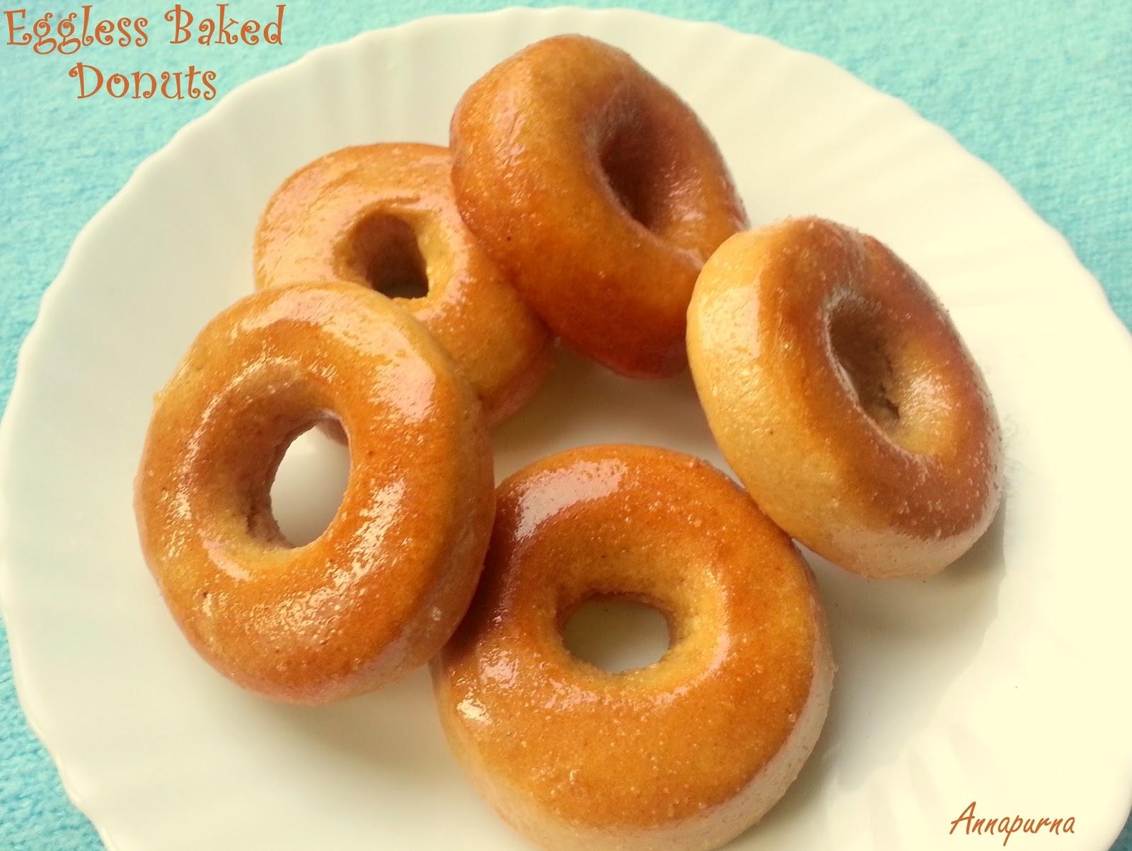 Egg-less Whole Wheat Flour Baked Doughnut Recipe Without Yeast