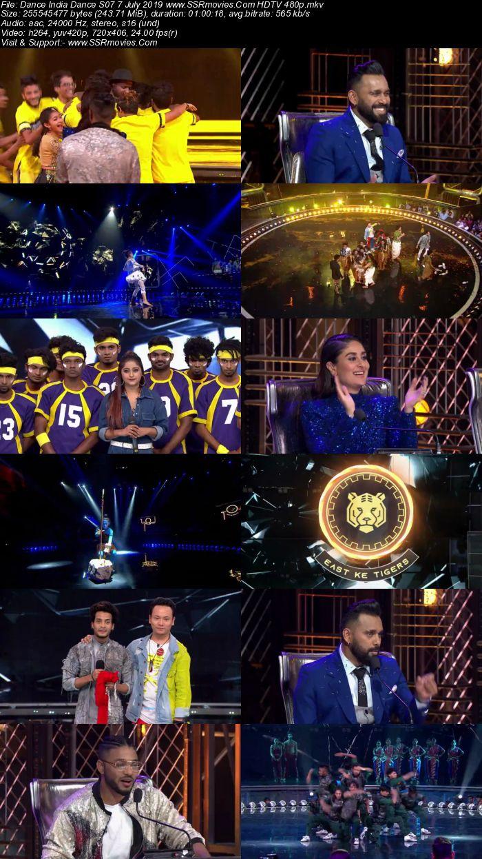Dance India Dance S07 7 July 2019 HDTV 480p Full Show Download