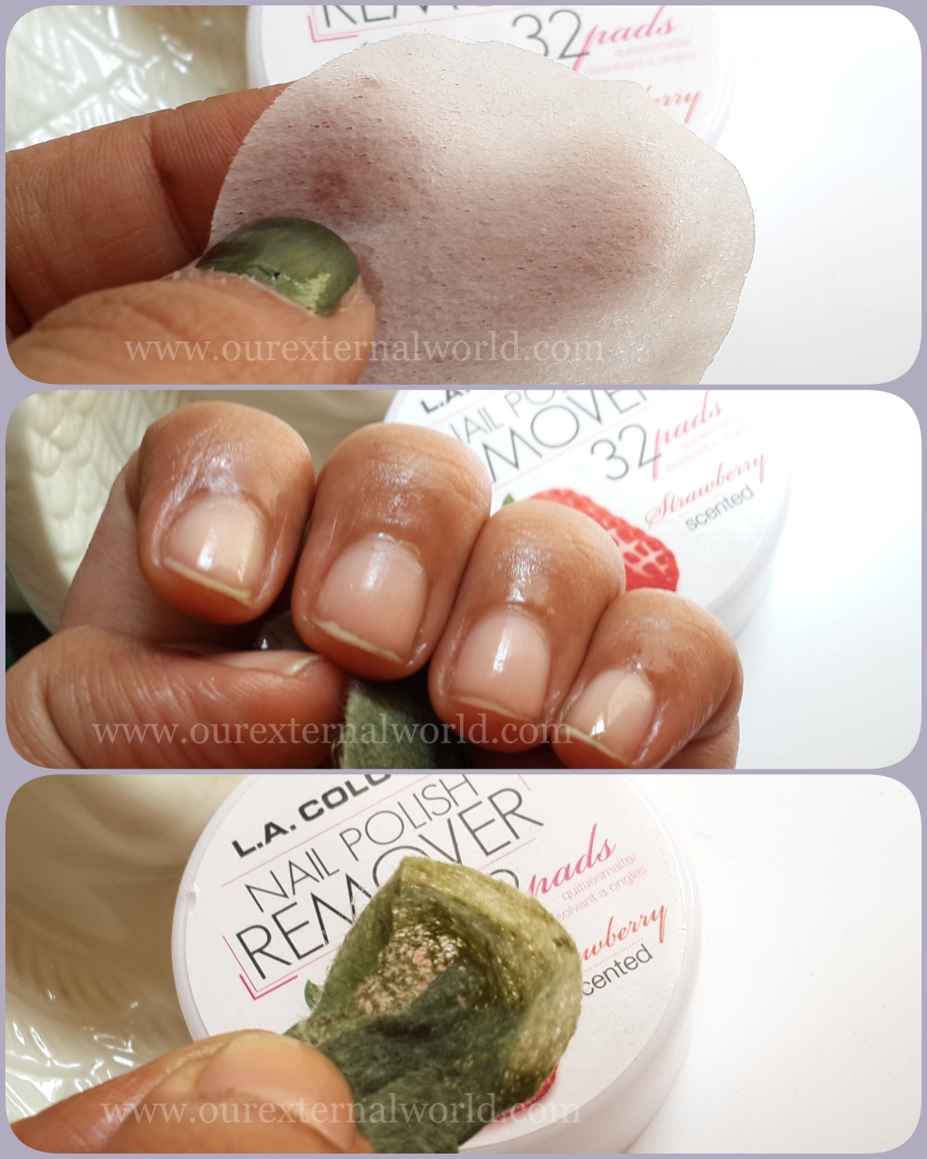 L.A. Colors Nail Polish Remover Pads - Review