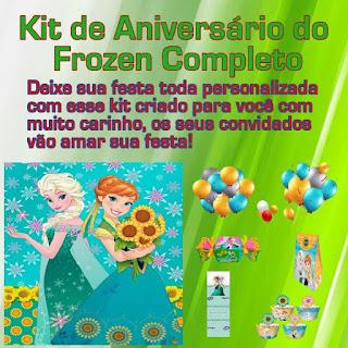 Kit de Aniversário do Frozen Completo para Imprimir