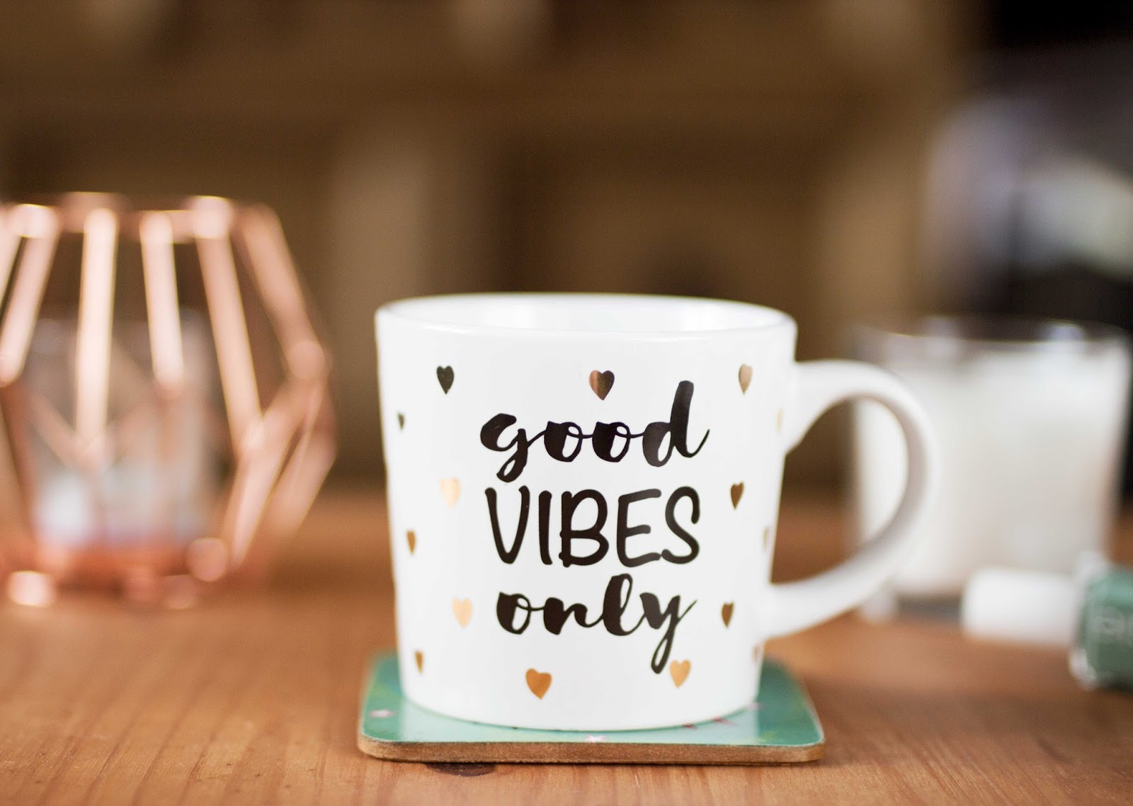 Good Vibes Only Mug, Mug, Beauty Bloggers, Derby Bloggers, Derbyshire Bloggers, Belper, Lifestyle Bloggers, Mental Health Bloggers, Katie Writes, Katie Writes Blog,