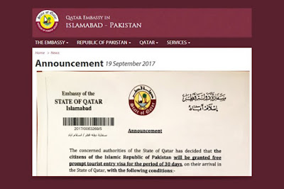 Open Tourist Visa to Pakistanis by Qatar