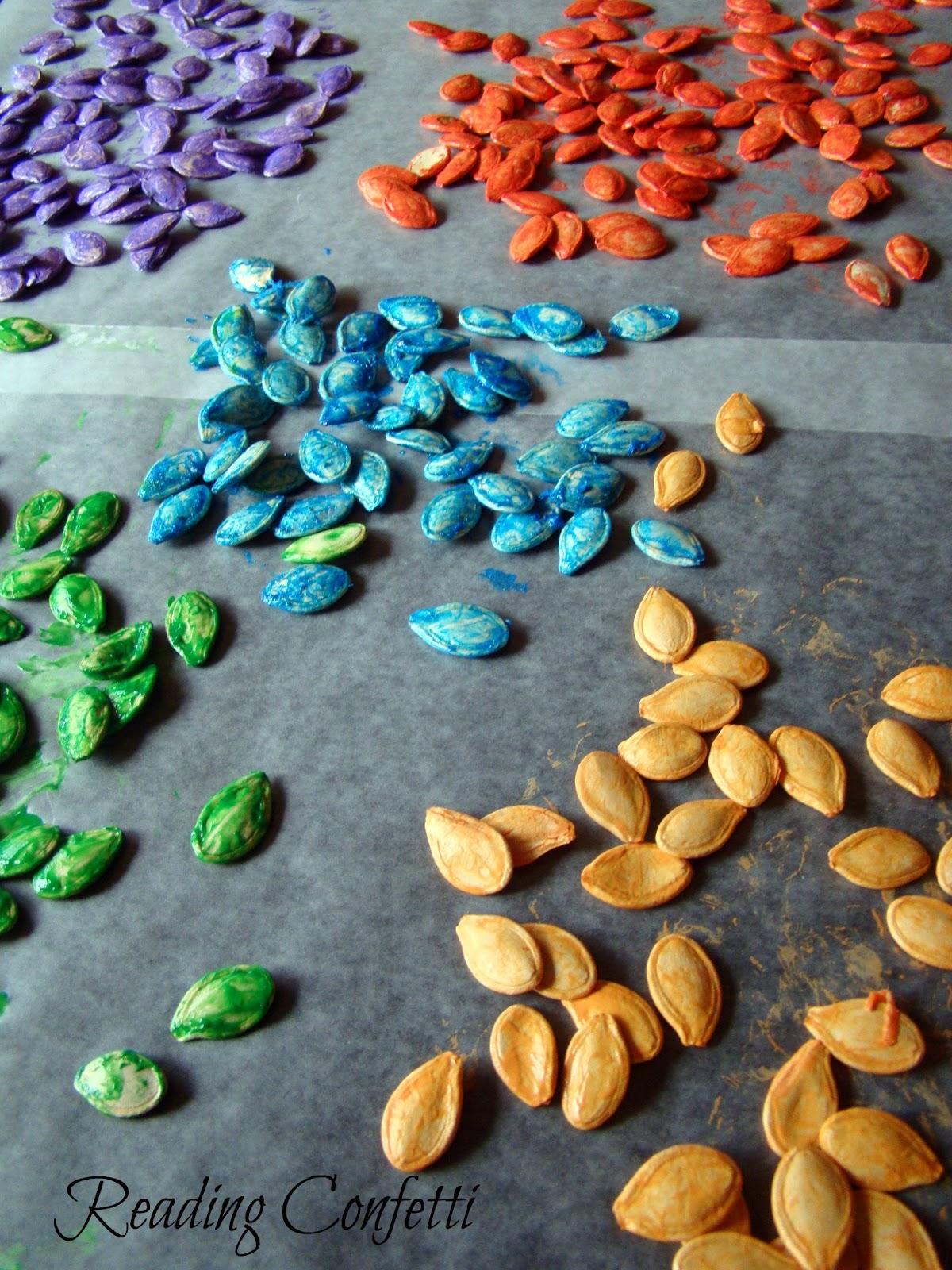 Pumpkin Seed Art Reading Confetti