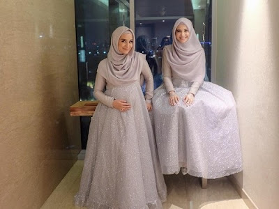 Model baju gamis Shireen Sungkar