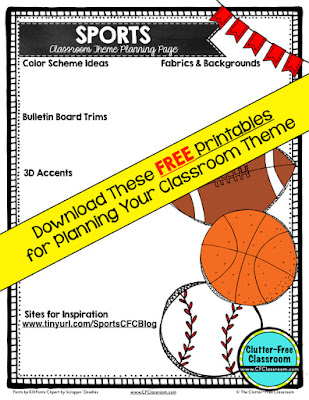 Are you planning a sports themed classroom or thematic unit? This blog post provides great decoration tips and ideas for the best sports theme yet! It has photos, ideas, supplies & printable classroom decor to will make set up easy and affordable. You can create a sports theme on a budget!