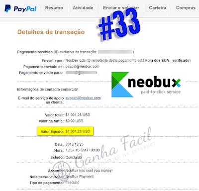 paypal neobux pagamento dinheiro ganha ganhar money earn