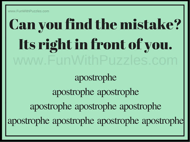Can you spot the Mistake Picture Puzzle
