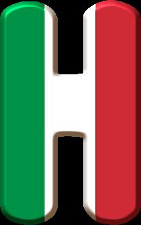 Alfabeto Con La Bandera De Italia Oh My Alfabetos