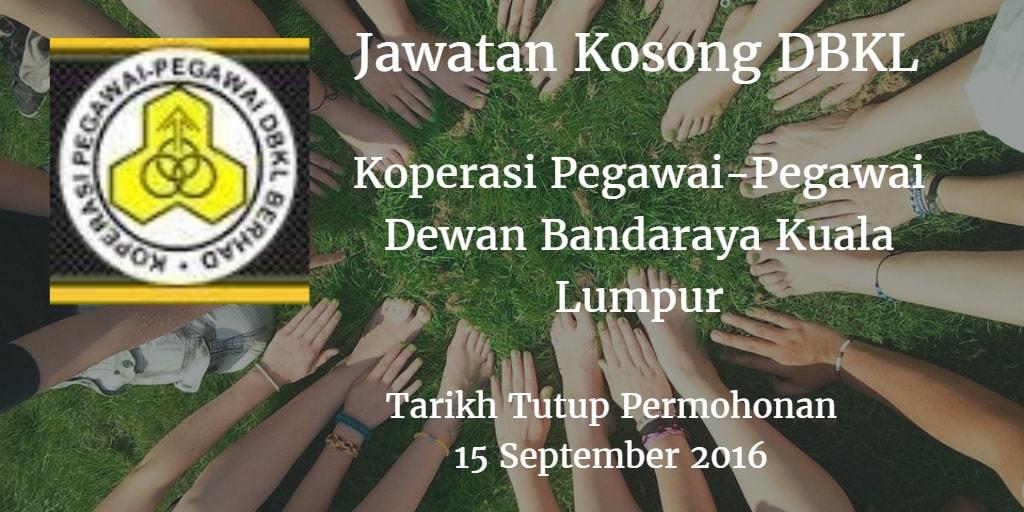 Jawatan Kosong DBKL 15 September 2016