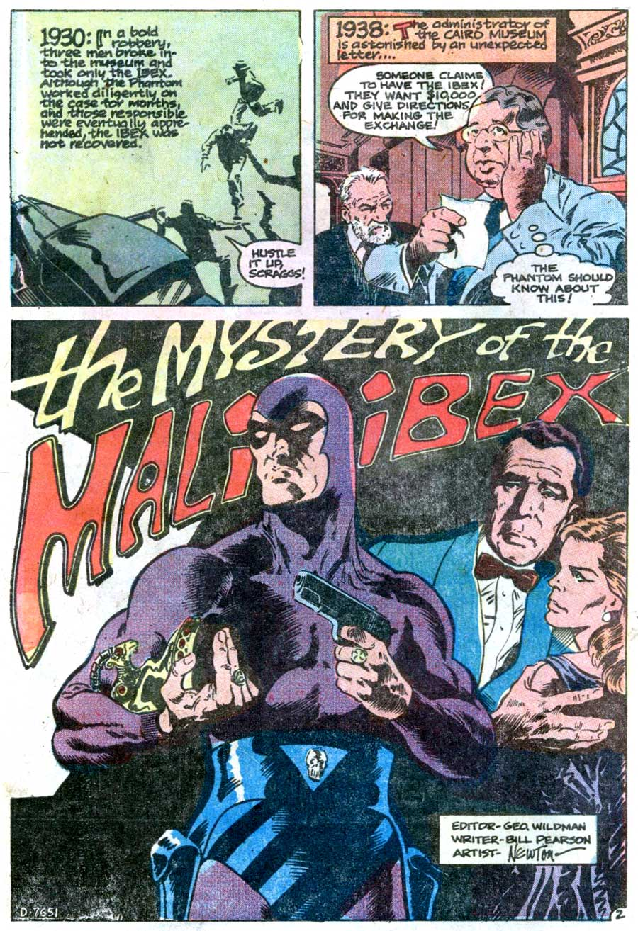 The Phantom v2 #70 charlton comic book page art by Don Newton