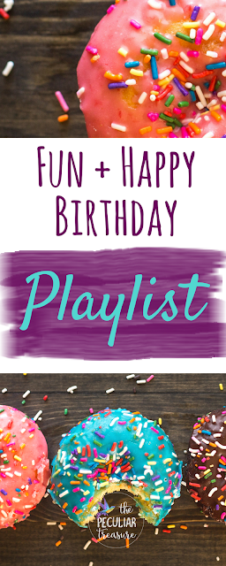 A fun, quirky, and free Spotify birthday playlist + 10 peculiar things about the author of The Peculiar Treasure.