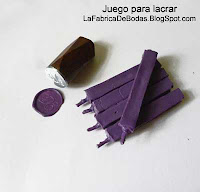 venta comprar Kit  para lacrar en guatemala con sello de metal y lacre en barra tipo velita en morado con iniciales  D E fabrica sello de metal