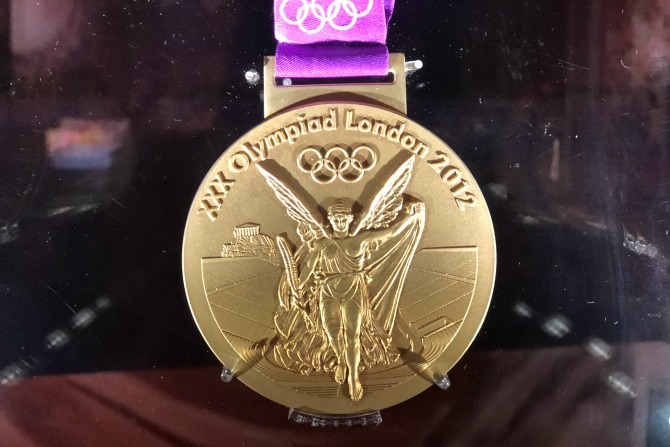An olympic medal