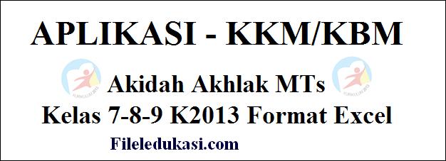 KKM doktrin susila MTs Kelas 7-8-9 K2013 Format Excel