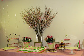 Love is Sweet Pink & Green Dessert Table- The Creative Confectionista
