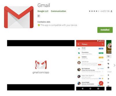 pembaharuan gmail aplikasi