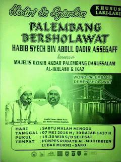 jadwal habib syech mei 2016 palembang bersholawat