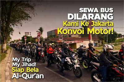konvoi naik sepeda motor bela islam 3