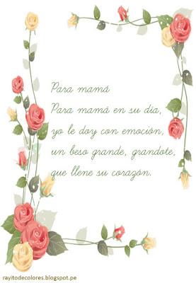 poema para mamá
