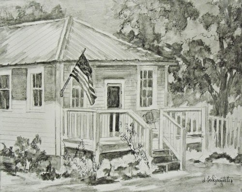 Deanna's Paintings: House Sketch, Architectural Sketch ...